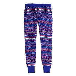 JCrew sweater leggings fair isle merino wool EUC
